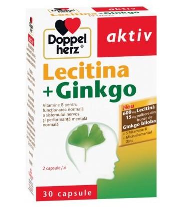 DOPPELHERZ Lecitina+Ginko x 30cps