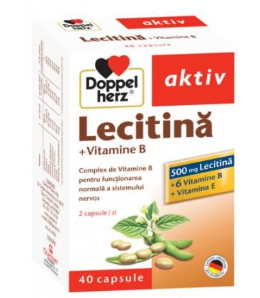 DOPPELHERZ Lecitina+vitamina B6+vitamina E x 40cps