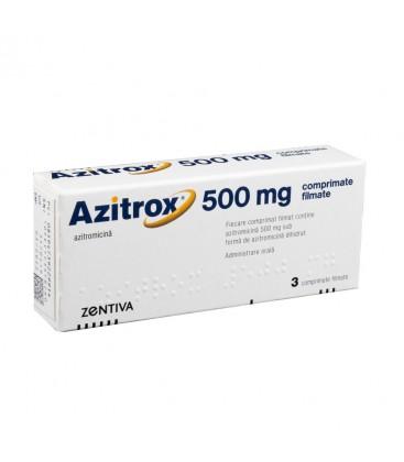 AZITROX 500mg  X 3 COMPR. FILM.