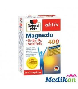 Magneziu 400+Vitamine B1+B6+B12+Ac.fol x 30 cpr +10 cpr CADOU