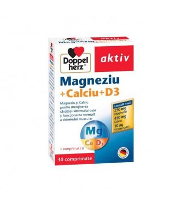 DOPPELHERZ Magneziu+calciu x 30cp