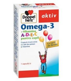Omega 3+vitamina A+D+E+C copii x 30cps