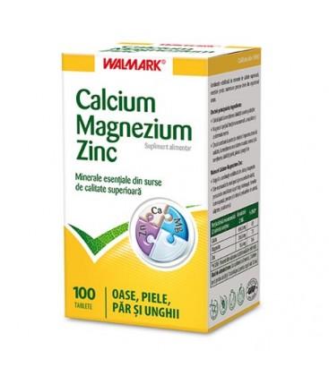 W-Calciu,magneziu si zinc x 100cp Cutie  WALMARK