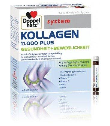 DOPPELHERZ System Kollagen 11000 plus x 10 fiole