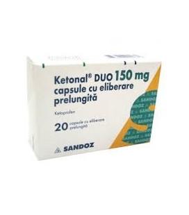 KETONAL (R) DUO 150 mg X 20 CAPS. ELIB. PREL.