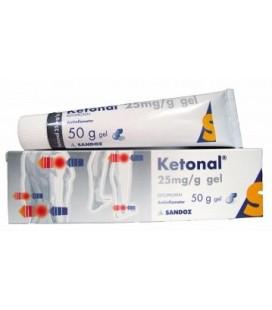 KETONAL 25mg/g X 1 GEL