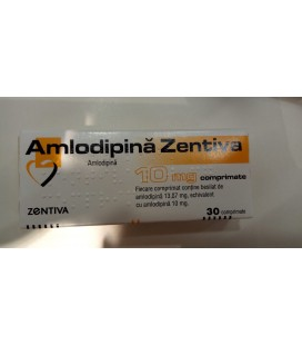 AMLODIPINA ZENTIVA 10 mg X 30 COMPR