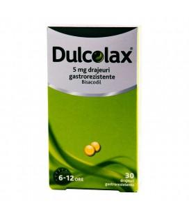 DULCOLAX 5 mg X 30 DRAJ. GASTROREZ.