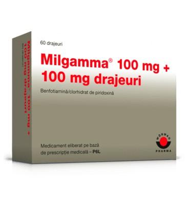 MILGAMMA  100+100mg X 60DJ DRAJ