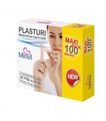 MINUT Plasturi 19 x 72 mm x 100 buc
