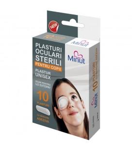 MINUT Plasturi oculari sterili pentru copii x 10buc