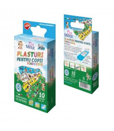 MINUT Plasturi pentru  copii Pinochio x 10buc
