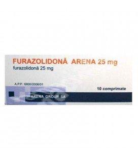 FURAZOLIDONA 25mg X 10 COMPR