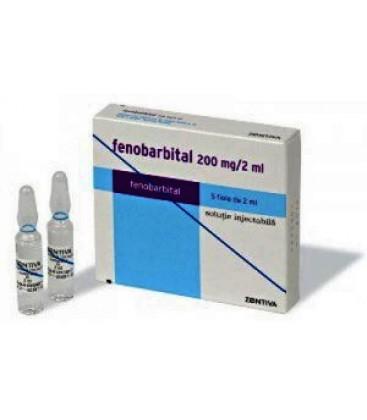 FENOBARBITAL 200 mg/ 2 ml X 5 SOL. INJ. 100 mg/ml