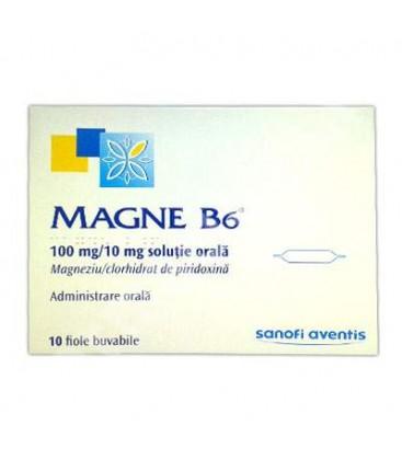 MAGNE B6 100 mg/10 mg X 10 SOL. ORALA