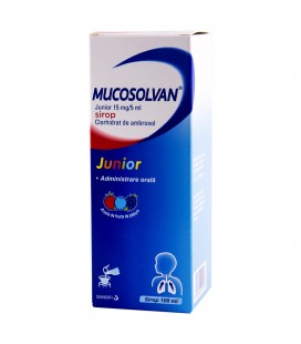 MUCOSOLVAN JUNIOR 15 mg/5 ml X 1 SIROP