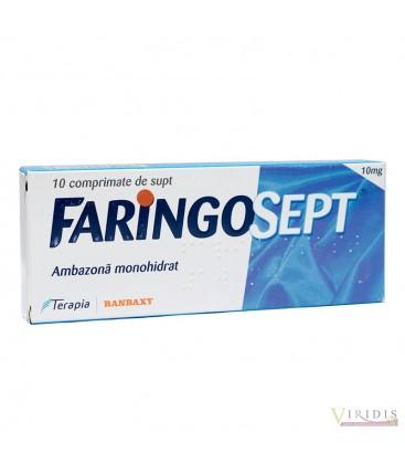 FARINGOSEPT 10 mg X 10 COMPR. DE SUPT