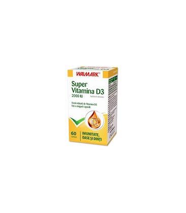 W-Super Vitamina D3 2000UI x 60cps cutie  WALMARK