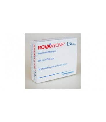 ROVAMYCINE 1,5 Mil. UI X 16 COMPR. FILM.