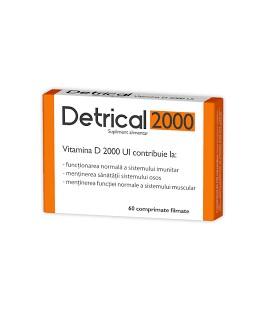 ZDROVIT Detrical D3 2000 IU x 60cpr cutie  ZDROVIT