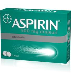 ASPIRIN 500 mg X 20 DRAJ.