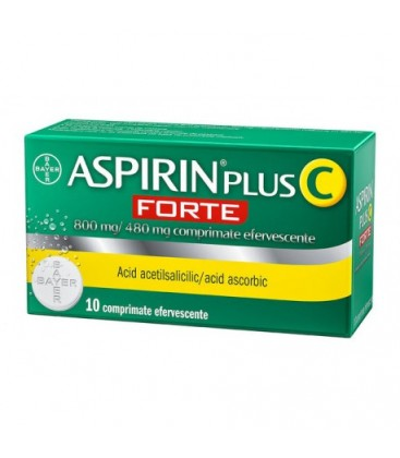 ASPIRIN PLUS C FORTE 800 mg/480 mg X 10 COMPR. EFF