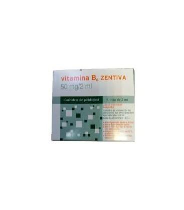 VITAMINA B6 ZENTIVA 50 mg/2ml X 5 SOL. INJ.