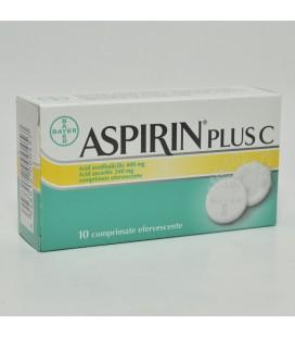 ASPIRIN PLUS C X 10 COMPR. EFF.