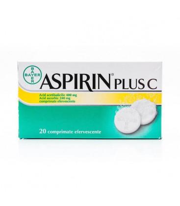 ASPIRIN PLUS C X 20 COMPR. EFF.