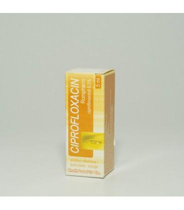 CIPROFLOXACIN ROMPHARM 0.3% X 1 PIC. OFT./AURIC. SOL.