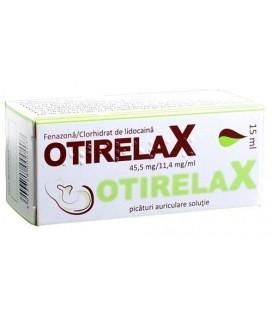 OTIRELAX 45,5mg/11,4 mg/ml X PICATURI AURICULARE-SOL.