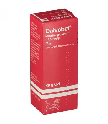 DAIVOBET 50 micrograme/0,5 mg/g X 1 GEL 50micrograme/0,5mg/g LEO PHARMA