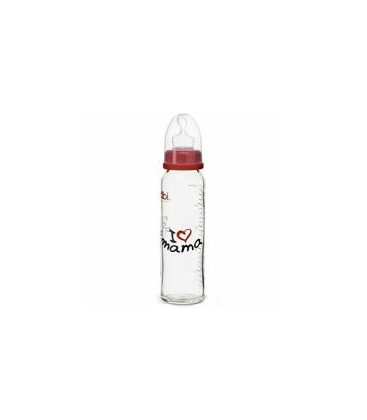 BIBI Biberon sticla MAMA/PAPA 240 ml