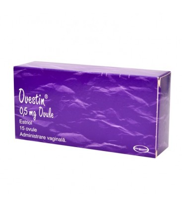 OVESTIN 0,5 mg X 15 OVULE 0,5 mg