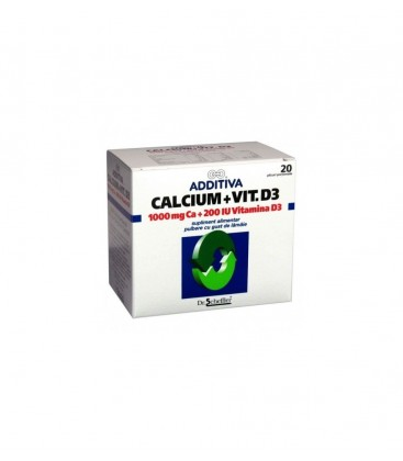 ADDITIVA Calciu 1000mg+D3 x 20pl