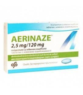 AERINAZE 2,5mg/120mg x 10 COMPR. ELIB. MODIF.
