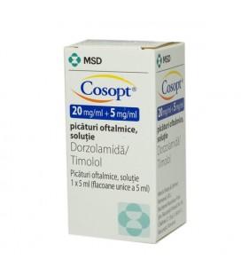 COSOPT 20 mg/l + 5 mg/ml X 1 PIC. OFT.-SOL.
