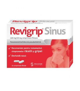 REVIGRIP SINUS 500 mg/30 mg X 20 COMPR. FILM.