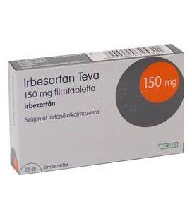 IRBESARTAN TEVA 150 mg X 28 COMPR. FILM.