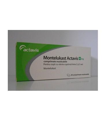 MONTELUKAST ACTAVIS 4 mg X 30 COMPR. MAST.