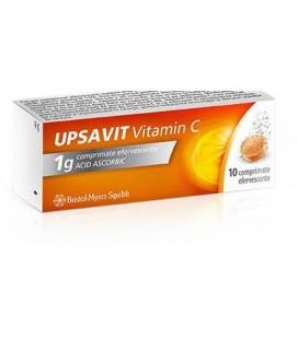 UPSAVIT VITAMIN C 1g X 10 COMPR. EFF.