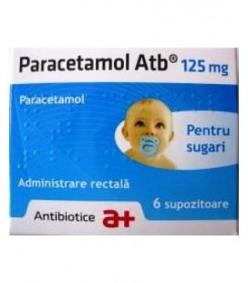 PARACETAMOL ATB 125 mg X 6 SUPOZ