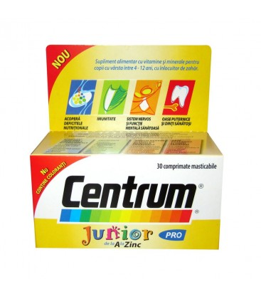 CENTRUM JUNIOR X 30 COMPR. MAST.