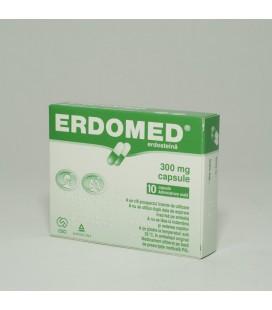 ERDOMED 300 mg X 10 CAPS. 300mg ANGELINI