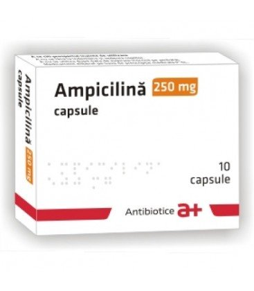 AMPICILINA ANTIBIOTICE 250 mg X 20 CAPS