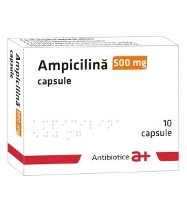 AMPICILINA ANTIBIOTICE 500 mg X 10 CAPS