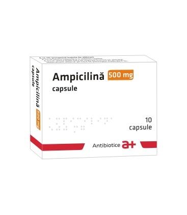 AMPICILINA ANTIBIOTICE 500 mg X 10 CAPS
