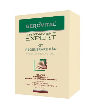 GEROVITAL PLANT Kit Tratament regenerare par x 10fi