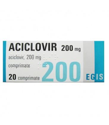 ACICLOVIR EGIS 200 mg X 20 COMPR. 200mg EGIS