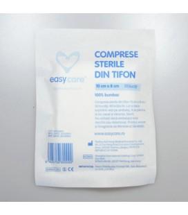 EASYCARE Comprese sterile bumbac taiate x 1buc